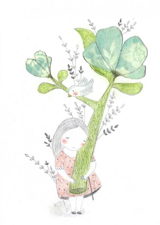 20 - La fleur coupée (8 x 12 cm, 55 euros)