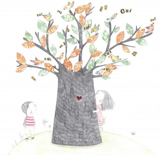 25 - L'arbre aux oiseaux (29 x 29 cm, 150 euros)