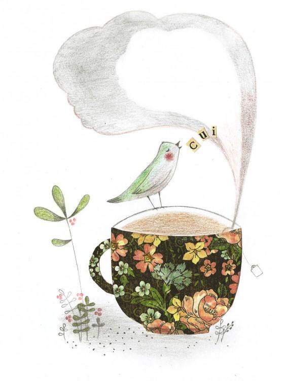 6 - La tasse de thé (12 x 17 cm, 80 euros)