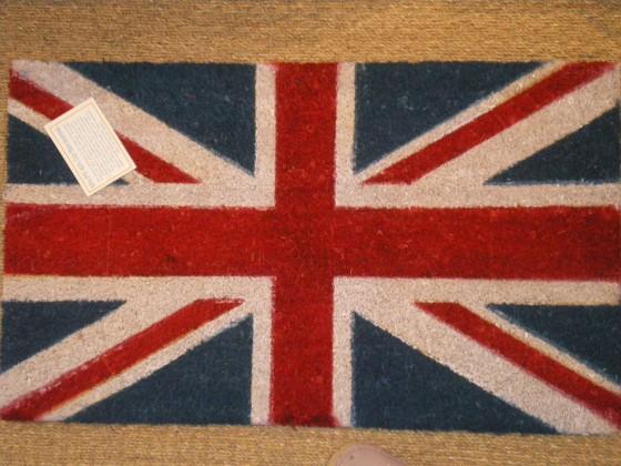 Paillasson Union Jack (25 euros)