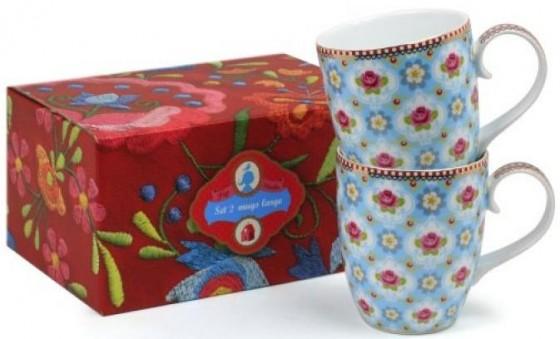Coffret 2 mugs Cherry blossom, 3 coloris au choix (22,80 euros)