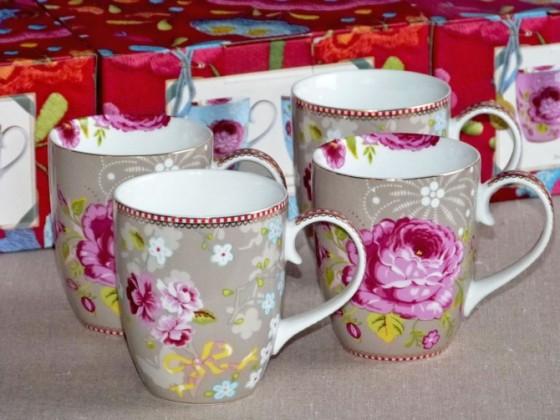 Coffret de 4 mugs assortis beige (45,50 euros)