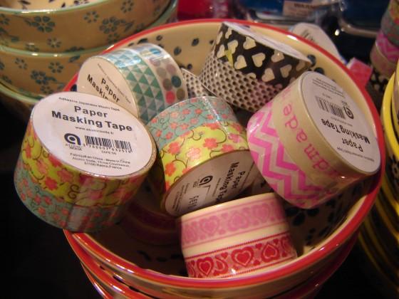 Masking tape, nombreux motifs et coloris (5,90 euros les 2 rouleaux)