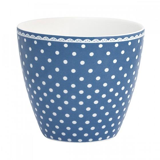 Latte cup spot indigo (12 euros)