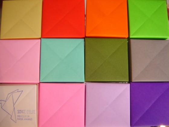 De toutes nouvelles boucles grues en origami Songe d'Elfe se cachent dedans ...