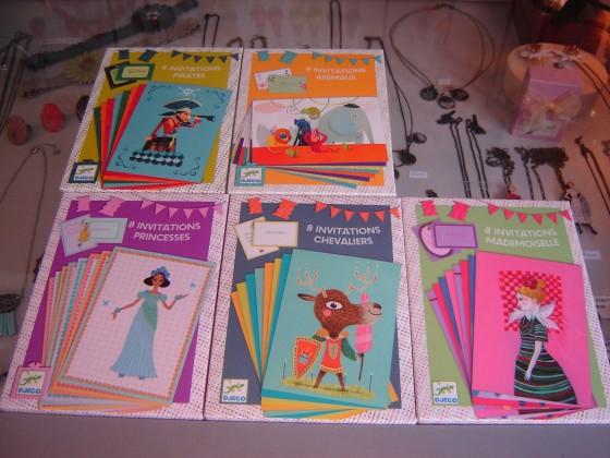 8 cartes, 8 enveloppes (4 euros)