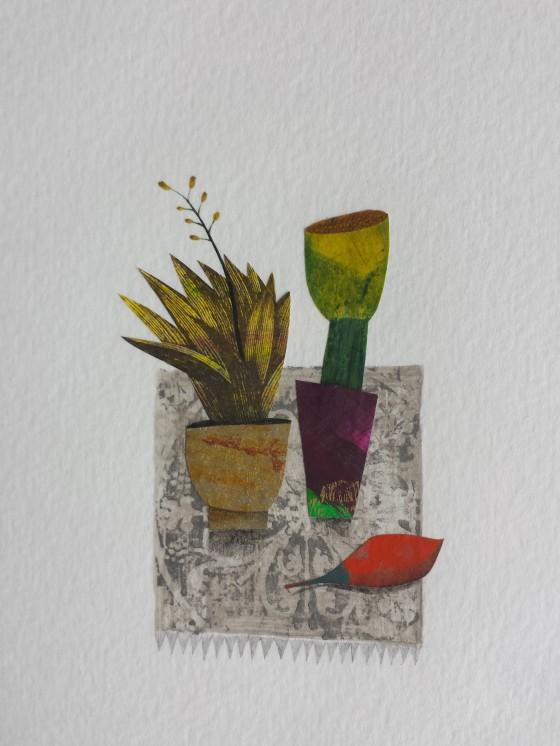 Série des 13x18 cm (peinture, collage), n°23, 70 euros