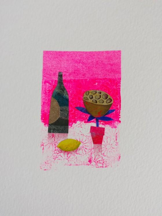 Série des 13x18 cm (peinture, collage), n°25, 70 euros