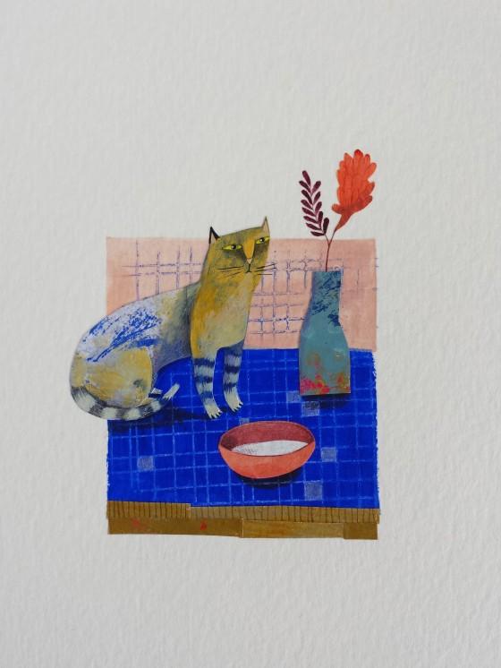 Série des 13x18 cm (peinture, collage), n°27, 70 euros