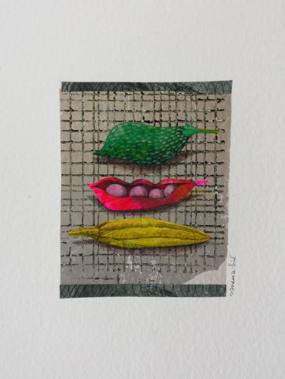 Série des 13x18 cm (peinture, collage), n°28, 70 euros