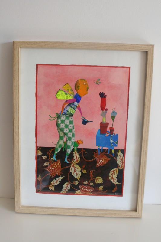 """""""La Femme Papillon"""", illustration encadrée (30x40 cm, 350 euros)"""