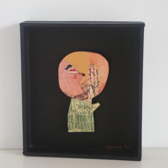Arbre Fleur n°4, cadre carton noir (11x12,5 cm, 120 euros)