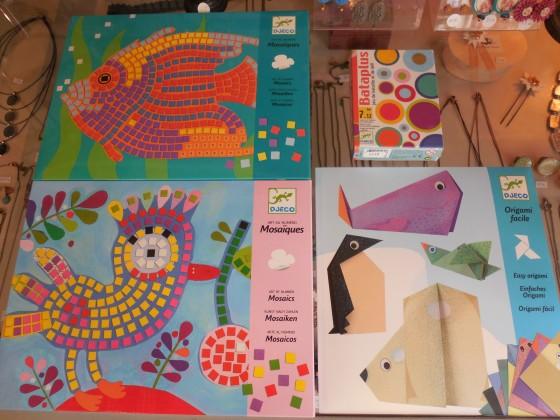 Mosaïques (8,90 euros), origami Animaux des pôles (5 euros), Bataplus (8,80 euros)