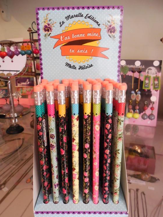 Crayon avec gomme (1,50 euros)