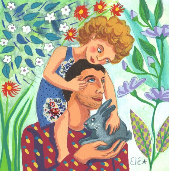 Elé5 – Papa et moi (12×12 cm, 65 euros)