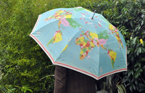 "Parapluie ""World map"" (22 euros)"