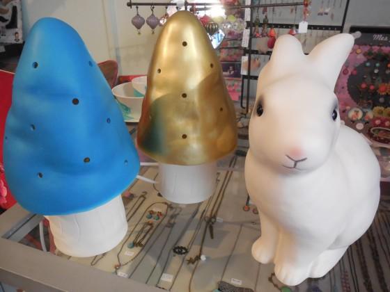 Nouveaux coloris pour les lampes champignons (50 euros), et retour de Pampan (55 euros)