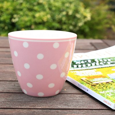 Latte cup porcelaine (h. 8,5 cm, dia. 9,5 cm) 8,40 euros au lieu de 12 euros !