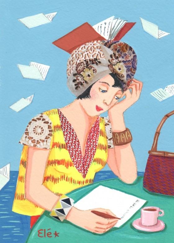 Elé84 - femme au turban, le livre (Illu. 12x17 cm, cadre 21x30 cm) 65 euros