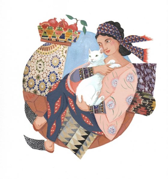 Elé99 - Jasmine (cadre blanc 25,5x25,5 cm, 80 euros)