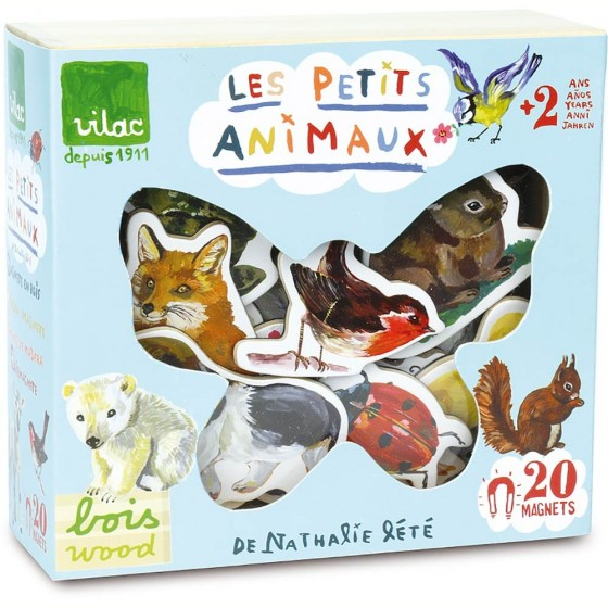 20 grands magnets animaux en bois (16,50 euros)