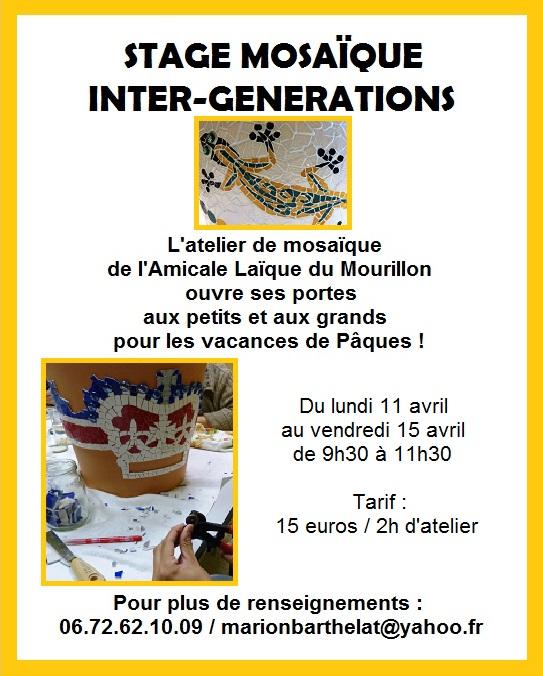 stage inter-générations - Pâques 2016