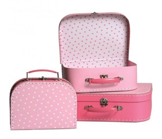 valises rose étoile