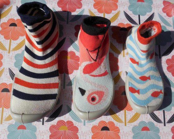 Chaussons-chaussettes Collégien, fabriqués dans le Tarn (coton, élasthanne et caoutchouc)
