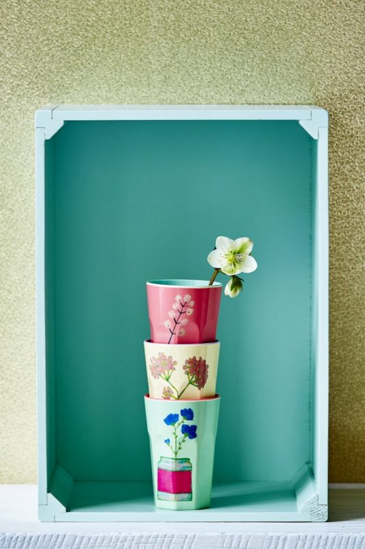 Timbales hautes en mélamine Flower Display (10,50 euros)