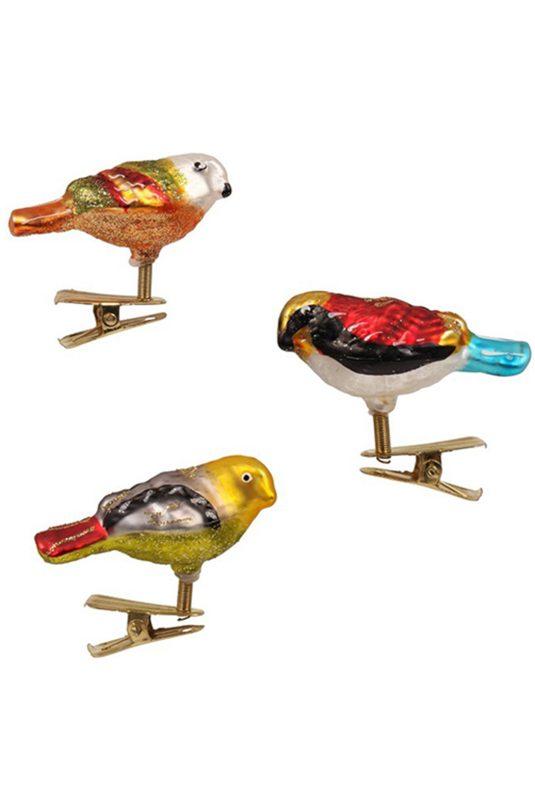 3 petits oiseaux sur pince (14,50 euros)
